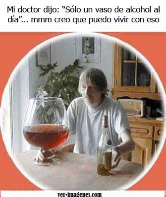 ¡ sólo un vaso de vino al día !