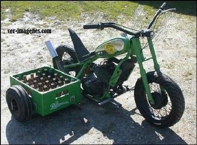 Motocicleta botellero