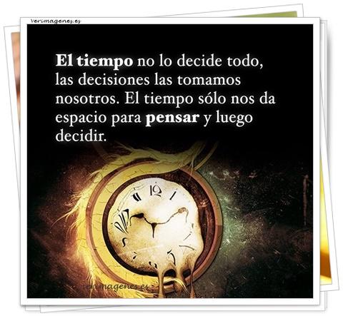 El tiempo no lo decide todo
