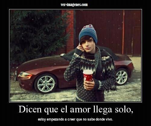 Dicen que el amor llega solo .....