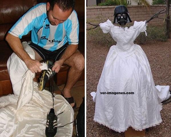 Maneras de utilizar el vestido de novia de su ex esposa