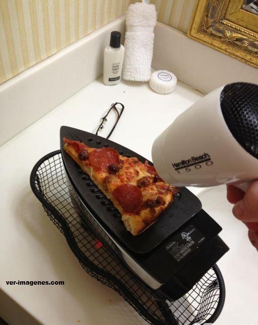 Una deliciosa pizza a la plancha!