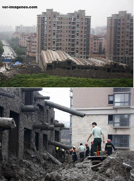 Insólito – un edificio de 13 plantas cae intacto al suelo en china