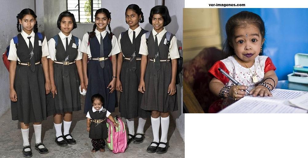 Jyoti, la niña más pequeña del mundo