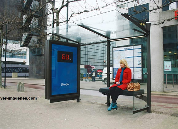 Una parada de autobús de 'peso'