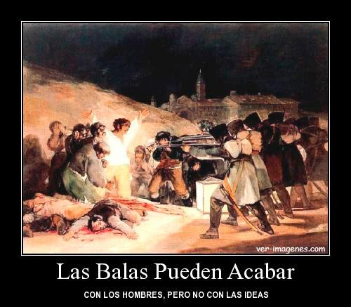 Las balas pueden acabar