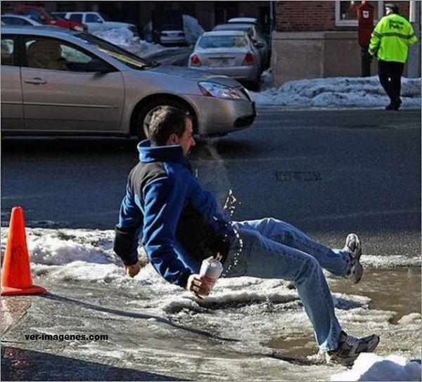 Resbalon con la nieve
