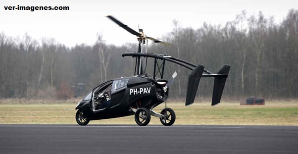 Inventores holandeses crean un coche volador
