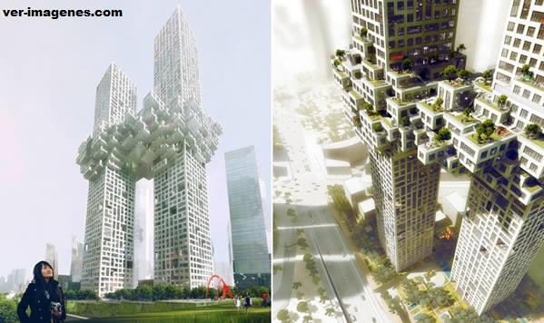 Diseñan dos rascacielos parecidos a las explosiones del 11-s