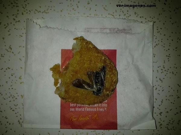 Halló una cucaracha en su desayuno de mcdonald