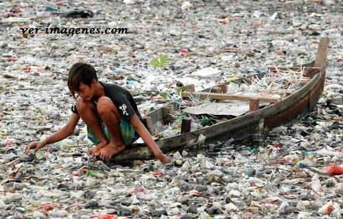 Rio lleno de basura!