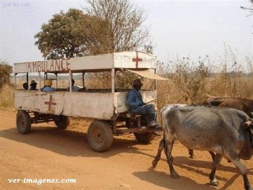 Asi son las ambulancias africanas