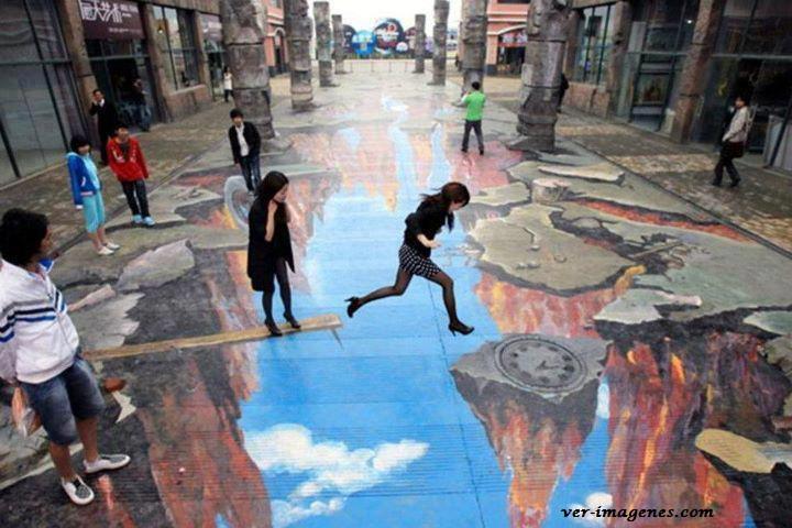 Super pintura en el suelo