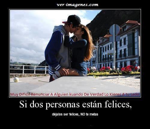 Imagen Si Dos Personas Estan Felices..