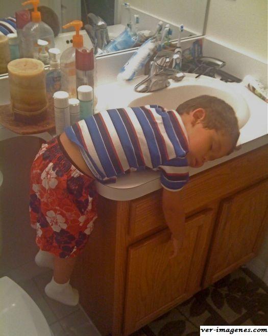 Cuando hay sueño cualquier lugar es bueno para dormir…