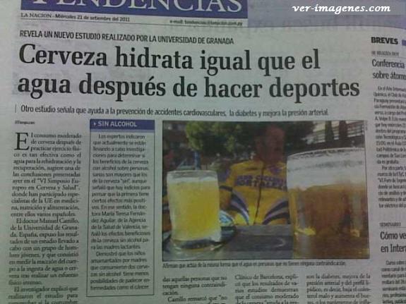 La cerveza hidrata como el agua!!!