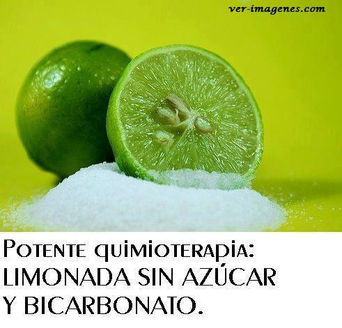 Tomar limonada todos los dias con una cucharita de bicarbonato ....