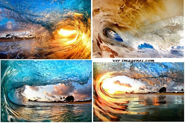 Dentro de las impresionantes olas de Hawai