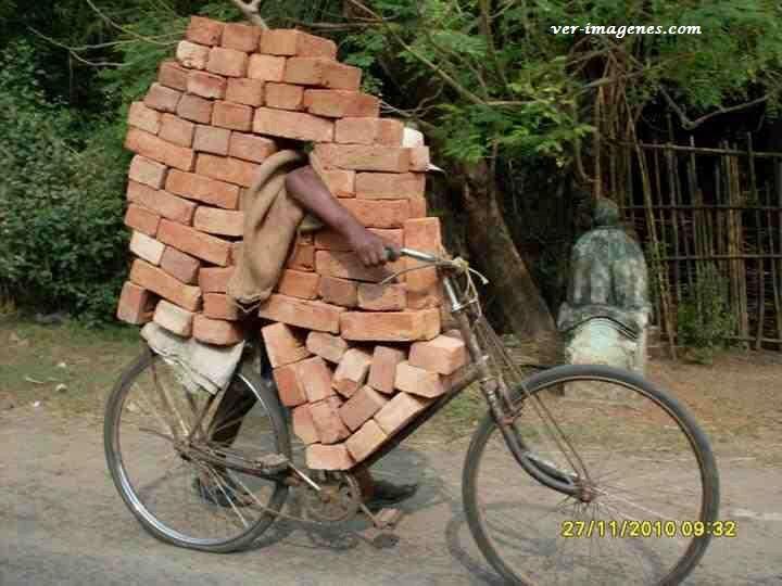 Transportando ladrillos