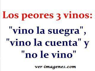 Los peores 3 vinos :
