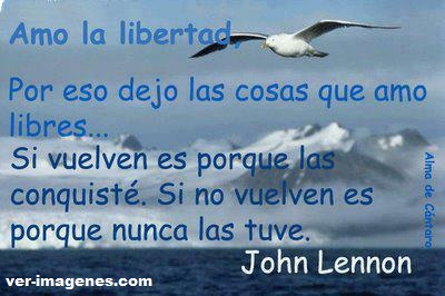 Amo la libertad ....