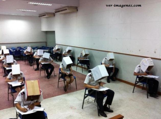 Efectivo método anti-copia para los exámenes de la escuela