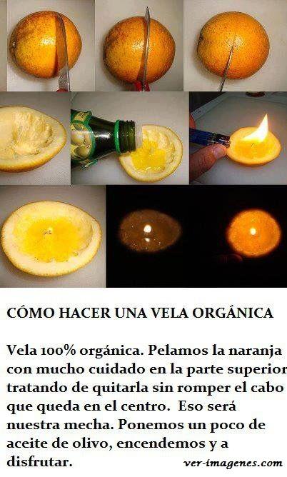 Como hacer una vela organica