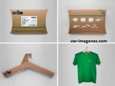 Perchas realizadas con embalajes