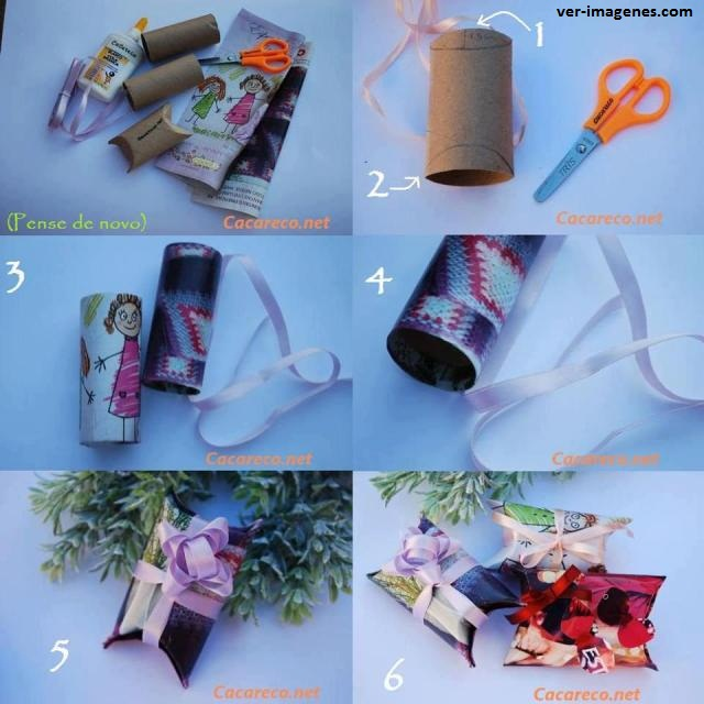 Cajitas de regalo con rollos de carton