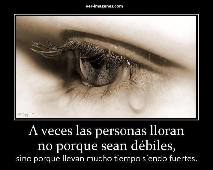 A veces las personas lloran