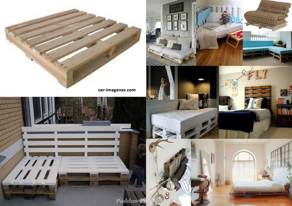 Varios muebles realizados con pales