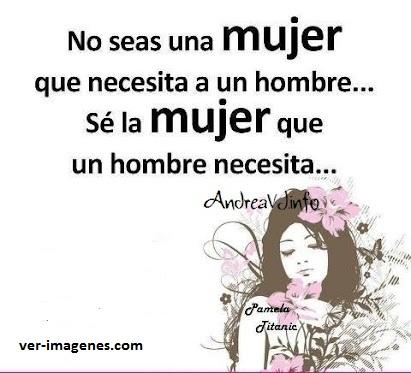 No seas una mujer .....