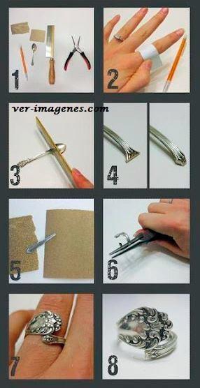 Realizar un anillo con cubiertos