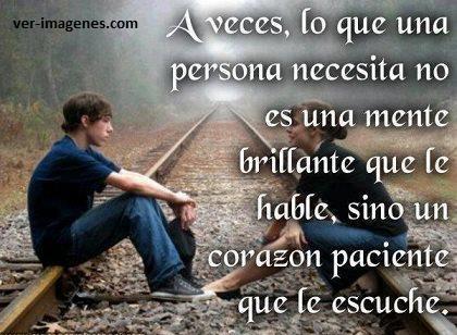 A veces, lo que una persona necesita .....