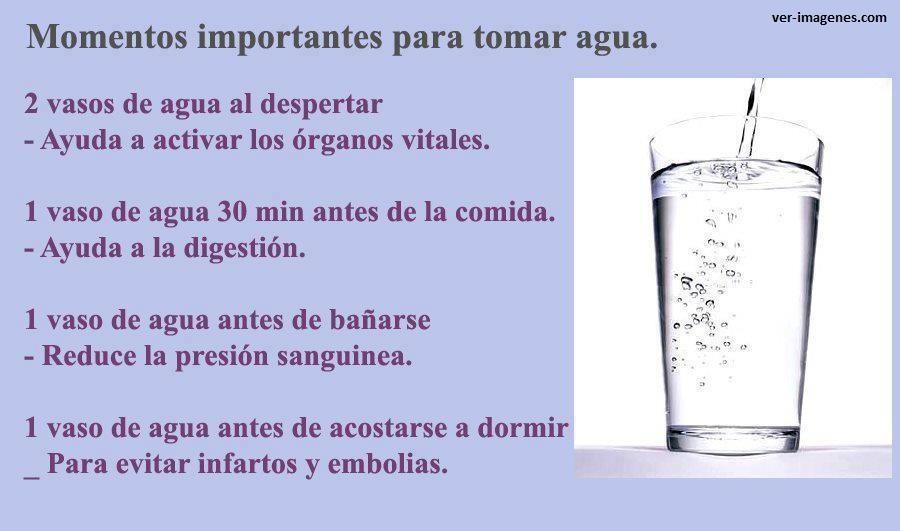 Imagen Momentos importantes para tomar agua