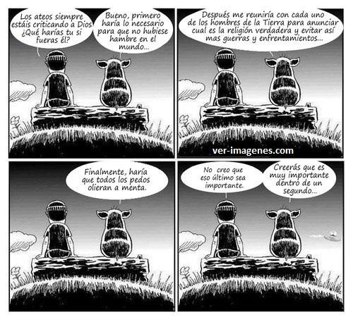 Los ateos .....