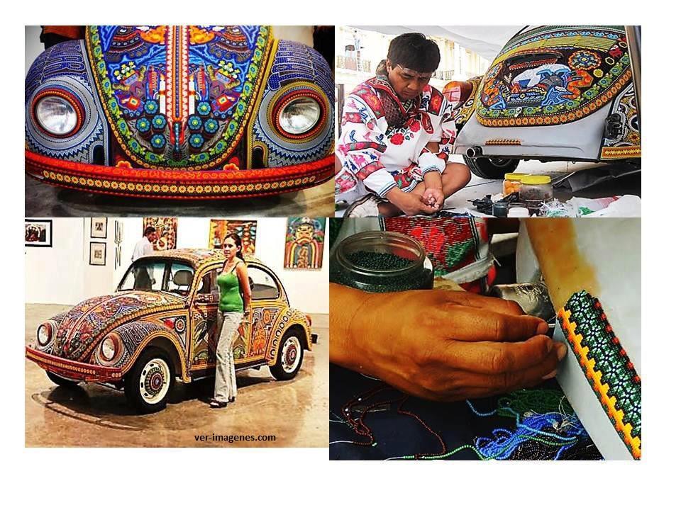 El arte de los Huicholes en México!