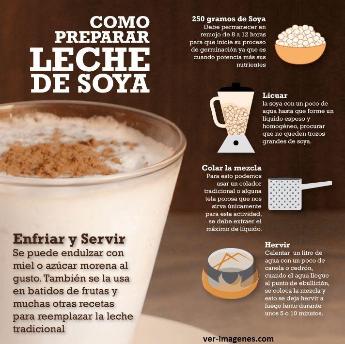 Como preparar leche de soja