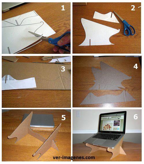 Soporte para laptop con cartón