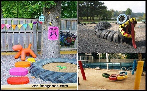 Parque infantil reciclado