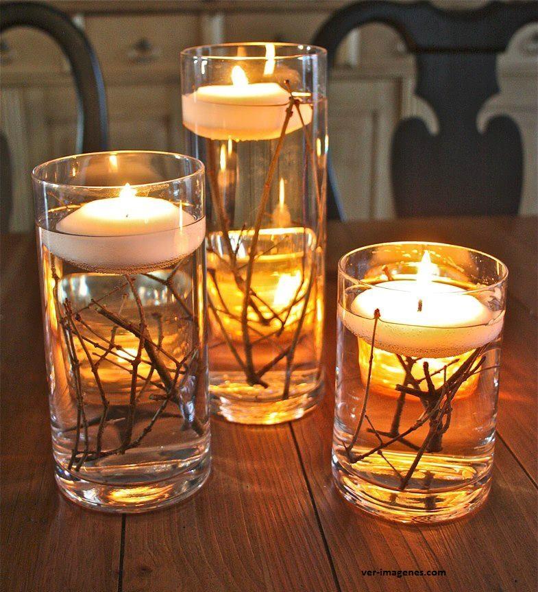 Velas para adornar las mesas navideñas