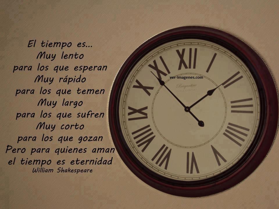 El tiempo es ..... muy lento