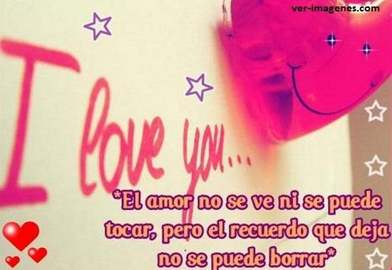 El amor no se ve