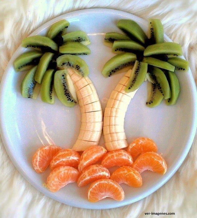 Palmeras con frutas