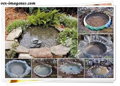 Imagenes de con una rueda de cami n vieja podemos for Como hacer un estanque con una llanta