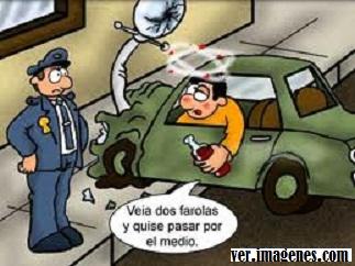 Pillado por el poli
