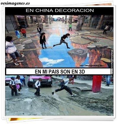 En china decoración