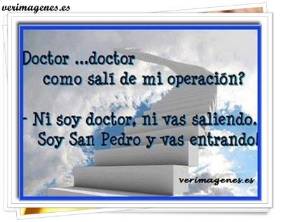 Doctor, doctor, como salí de mi operación?
