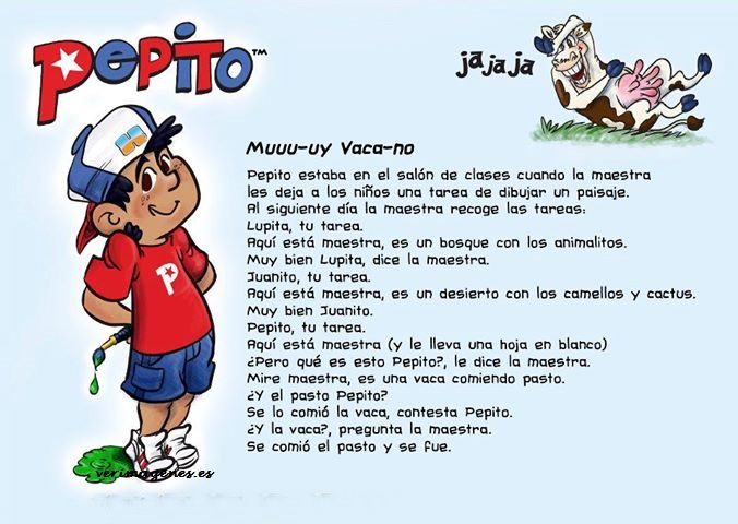 Pepito y sus tareas escolares