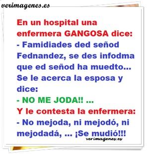 Enfermera gangosa